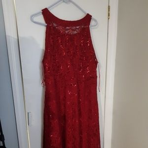 Avenue Dresses - Red lace gown
